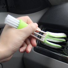 Car Vent Brush Double Ended Mini Dust Blind Cleaner Window Air Con Brush Hand Held Magic Air Conditioner Duster House Car Office(China)