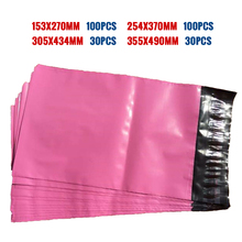Pink Color Square Envelope Mail packaging Custom Size Pouches Courier Mailer Express Bags