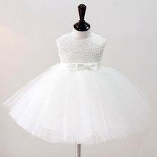 Baby Girl Christening Gowns Baby Girl Wedding Dress Princess Hand Beading Party Dress Tutu Dress Infant Girl Baptism Dress 2017(China)