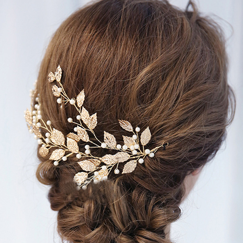 Fancy Women Silver Metal Ponytail Holder Silver Fashion Bling Hair Jewelry Dress