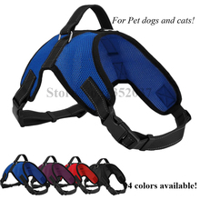 Free shipping Service Large Dog Soft  Mesh Harness Vest Newest Design Pet Supplies blue color