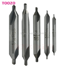 5Pcs HSS Center 60 degrees Spotting Drill Bits Combined Countersink High Speed Tool #G205M# Best Quality