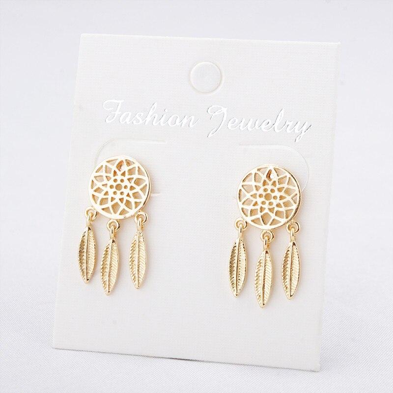 Boucles d'Oreilles Attrape Rêves - Mini Or style bohème bijoux chic femme belle