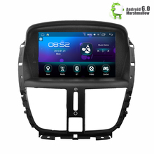 "7"" Android 6.0 Car DVD Stereo For peugeot 207 2007-2014 Auto Radio GPS Navigation Audio Video DAB+ WiFi 1GB RAM(China)"