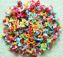 2016 New 50/100pcs Mix Style Pet Dog Hair Rubber Bands Pet Hair Bows Dog Hair Accessories Pet Grooming Products Cute Gift