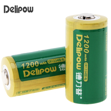 2pcs! Delipow 3V 1200mAh CR 123A Battery Li-ion Lithium CR123A Rechargeable Battery with Safety Relief Valve for Flashlight Toy(China)