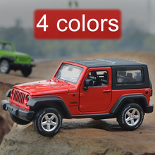 Alloy acousto-optic jeep off-road vehicles pull back boomerang kid toy car model collection Children's day birthday gift 1:32(China)