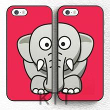 Set di 2 Best Friends BFF Pink Elephant Tpu Nero cell phone bags case cover for iphone 4S 5S 5C SE 6S 7 PLUS IPOD Samsung SONY