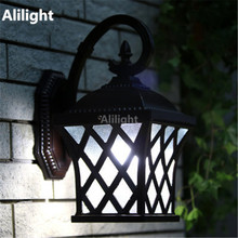 Classical Europe Garden Outdoor Lighting Porch Lights Vintage Wall Mounted Lamps Fittings Gazebo Aluminum Waterproof Wall Lights