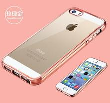 Royal Luxury style Plating Gilded TPU Soft Sillicon Gel Phone Cover For Apple iPhone 5 5S SE Phone Back Case Cover