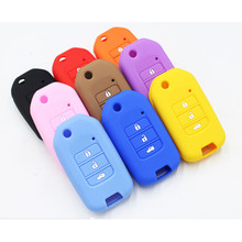 For  Honda Accord 9 Crider Silicone Cars Keys Case Key Cover 3 Buttons Folding Car Key Auto Accessories Hot Sale 1pc Multicolor