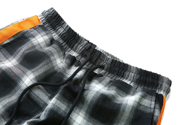 Side Ribbon Plaid Pants 9
