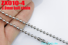 100 meters  3mm beads chain stainless steel ball chain bead necklace jewelry parts ZX010-4