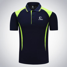 2017 new Men Tennis clothing solid male Fitness Run jogging Outdoor sports badminton T-shirt Short Sleeve breathable polo shirt