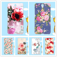 For Lenovo VIBE S1 Vibe S1 Case Cover Bright 10 Colors Clearly Flowers Printing Beautiful For Lenovo vibe S1 Popular case cover
