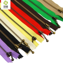 12cm 15cm Length water droplets shape copper zipper metal zipper for Sewing DIY handbag bag and Craft 5pcs/bag(Hong Kong)