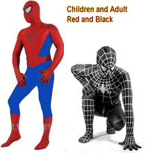 New Mens Adult/Childrens Boy Halloween Spiderman Cosplay Costumes Lycra Zentai SuperHero Costume Full Body Suit Full Size