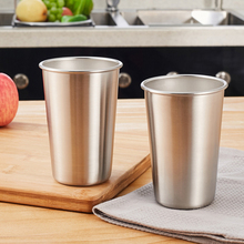 5PCS Tumbler Beer Mug Caneca Stainless Steel Pint Water Cups Travel Cooler Mugs Party Camping Picnic Juice Cup Drop Resistance