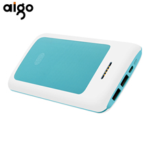 Aigo K20000 20000mAh Pover bank Dual USB Port Stripe Design Large Capacity Power Bank Mobile Battery Charger