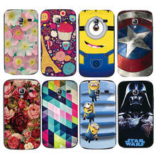 Painted Phone Case For Samsung Galaxy Ace 2 i8160 Relief Printing Cartoon Thin Original Back Cover Protective Shell Skin Hood