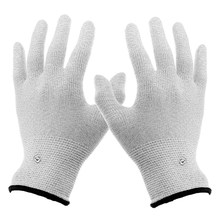 Useful 1 Pair Breathable Conductive Electrotherapy Massage Electrode Gloves Use With Tens Machine for Therapy Hand Massager Tool