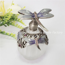 Manufacturing Business For Sale Refillable Bottle Metal Perfume Bottle Vintage Empty Glass 5ml Gift Home Decoration