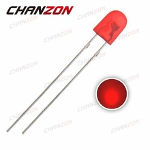 100pcs 5mm DIP Red 546 Diffused Oval LED 20mA DC 2V 620-625nm Light Emitting Diode Lamp Through Hole Bulb Electronics Components(China)