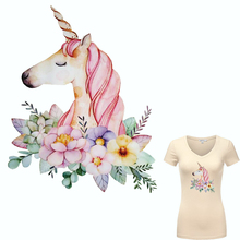 Colife Flower Patches For Clothing Cute Cartoon Unicorn Patch T-shirt Dresses Sweater Washable Heat Transfer Applique