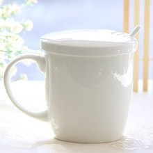 350ML, Ceramic bone china moomin cup, small enamel mug, enamel coffee cups, cute coffee mugs, mug with lid and spoon