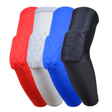 Basketball Arm Sleeve Pads Hockey Equipment Calf Compression Arm Sleeves Knee Elbow Brace Support Running Cycling Elbow pads1088(China)