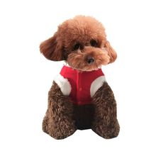 Pet Clothes Christmas Santa Claus Dog Clothes Costume Dress Winter Apparel Cotton Fleece Pet Dog Coat Hot Sale