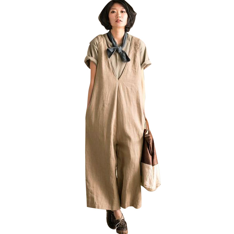 2018-Linen-Jumpsuits-Women-Harem-Rompers-Casual-Pockets-Sleeveless-Backless-Long-Pants-Loose-Playsuit-Plus-Size (2)