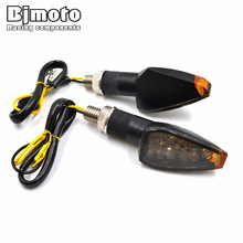 BJMOTO 2PCS Universal Motorcycle Super Bright 14 LED Turn Signal Lights Indicator Amber Blinker Lamp Easy to Install