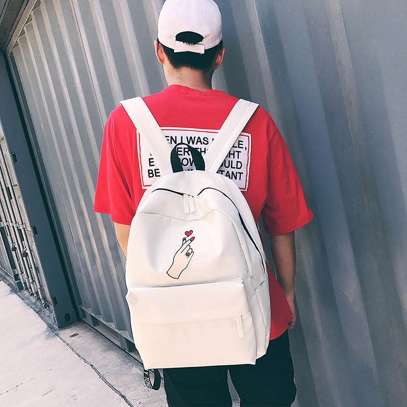 Men Canvas Backpack Cute Fashion Women Rose Embroidery Backpacks for Teenagers Women's Travel Bags Mochilas Rucksack School Bags (10)