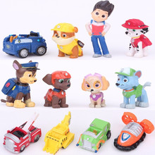 2017 New Toys 12 Pcs/Set dog Patrolled Puppy Dog Toy Childrens Anime Action Figure Toy Figures Patrolled Dog Model Toys