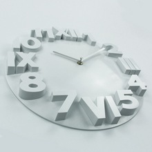 Fashion Home Decor Wall Clock Roman Numbers Large Plastic Wall Clocks Art Watch Horloge
