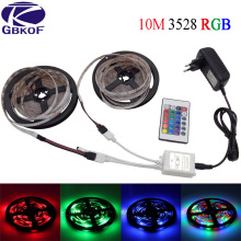 GBKOF Decoration 5m 10m 2835 led strip light Waterproof rgb strip 3528 DC12V 60LED/M diode strip LED lighting with Power Adapter