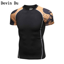 Buy 3D Printed T-shirts Men Compression Shirt Men's MMA Tshirt Short Sleeve Quick dry Workout Bodybuilding Fitness Tops T shirt for $11.71 in AliExpress store
