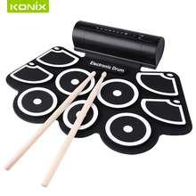 kids  electronic   rolling drum  set   and   silicone roll up drum kit