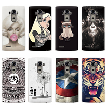Hot Selling!! 10 Styles Colored Painting Hard Plastic Case For LG G4 Cell phone Case Cover For LG G4 Mobile Phone Bags & Cases