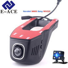 E-ACE Hidden Mini Wifi Camera Auto Video Recorder Car Registrator Dashcam Novatek 96655 SONY IMX 323 Night Full HD 1080P Car Dvr
