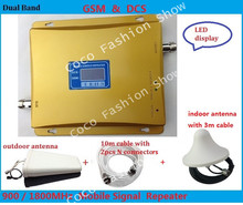 High Gain Dual Band GSM 900MHz DCS 1800MHz Repeater GSM 4G Repetidor Mobile Phone Cellular Signal Booster Amplifier GSM Repeater(China)