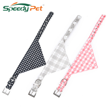 Small Medium Dog Collars Pink Gray Plaid Black Dot Pet Dog Adjustable Collar&Leads Dog Accessories Neckerchief Puppy Necklace