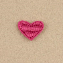 Women/Men/Kids/Baby Pink heart Iron on patches for clothing deal with it T-shit/Jeans/Coat embroidery patch Stickers for clothes
