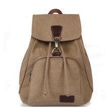 ZHIERNA hot sale vintage casual women canvas backpack drawstring bag schoolbag teenagers girls bagpack knapsack