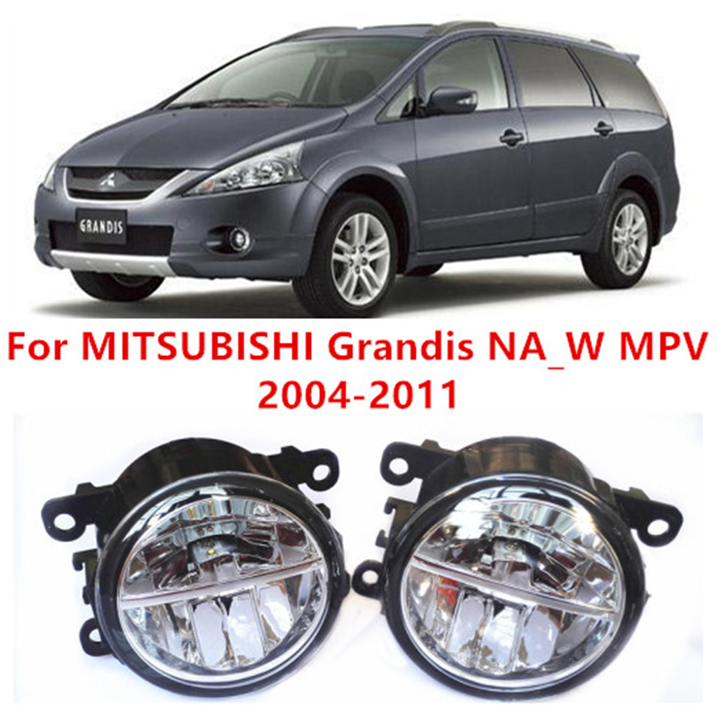 For MITSUBISHI Grandis NA_W MPV  2004-2011  10W Fog Light LED DRL Daytime Running Lights Car Styling<br>