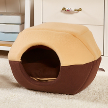 Holapet Winter Warm Pet Dog Cat Bed Cozy Soft Cat Kitten House Cage Washable Tent Nest For Small Puppy Dogs Pet Products(China)