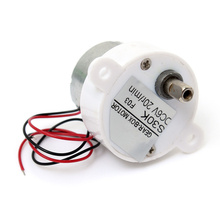 Buy Micro DC 6V Electric Geared Motor Worm Brush Reduction Gear Motor Slow Speed 20RPM RC Car Robot Model DC Motor for $3.09 in AliExpress store