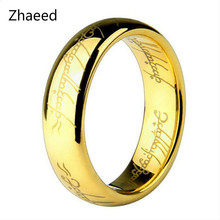 2017 Midi Ring Tungsten One Ring of Power Gold the Lord of Ring Lvers Women and Men Fashion Jewelry Wholesale Free Drop ship new(China)