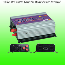 2017 Hot Selling 600W Three Phase AC22V~60V Input, AC 115V/230V Output Grid Tie Wind Power Inverter